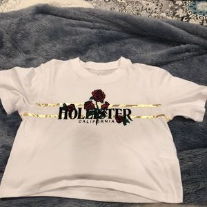 Hollister Cropped Oversized T shirt